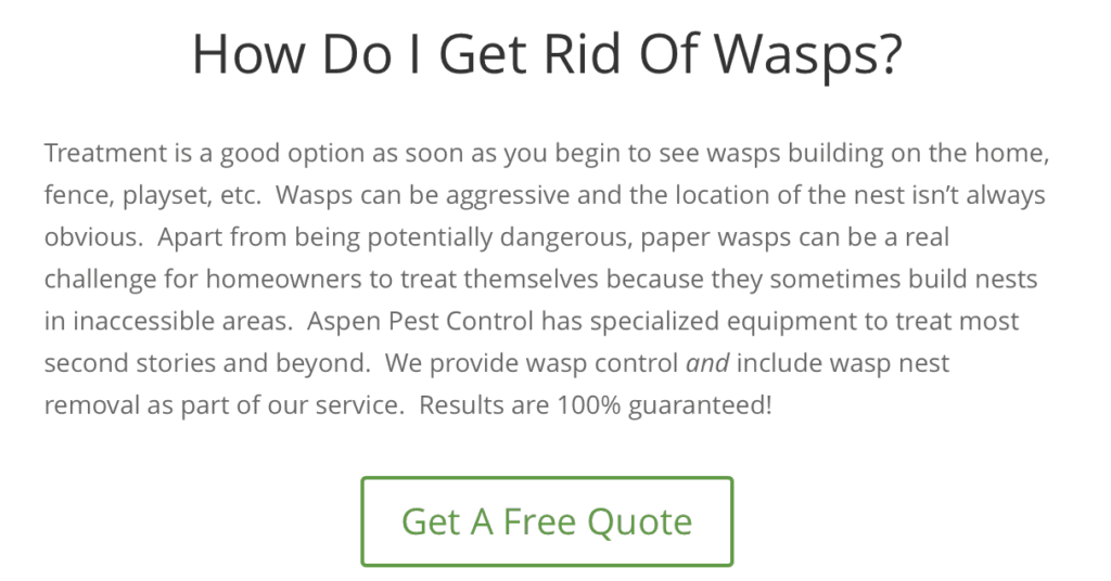 Wasp Removal Vancouver Washington